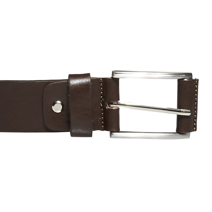 Classical leather belt, brown , 954-4833 - 26