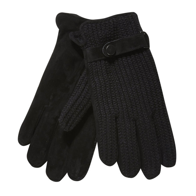 Men´s gloves with knit, black , 909-6295 - 13