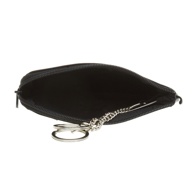 Leather purse bata, black , 944-6161 - 16
