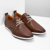 Casual leather sneakers bata, brown , 824-4124 - 26