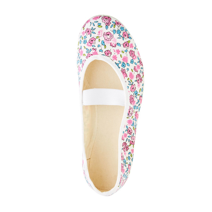 Children's gym shoes with floral pattern bata, pink , 479-5001 - 19