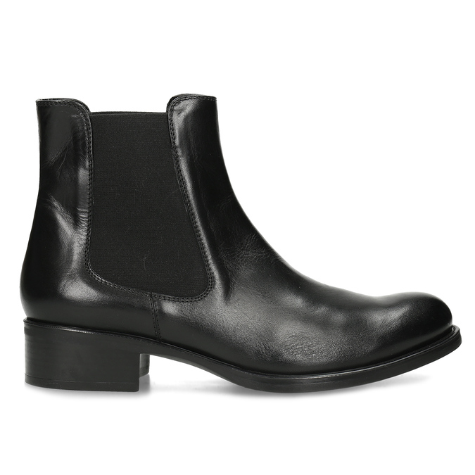 Ladies' leather Chelsea boots bata, black , 594-6448 - 19