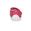 Children's slippers with a strap across the instep mini-b, pink , 379-5209 - 17