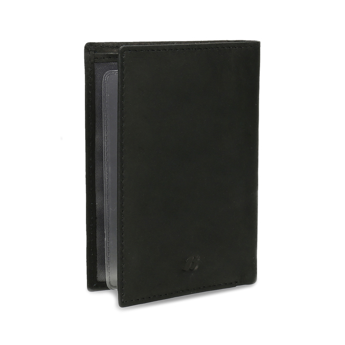 Leather document and card case bata, black , 944-6158 - 13