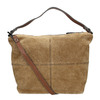 Leather handbag with quilting bata, brown , 963-3130 - 19