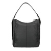 Hobo-style black leather handbag bata, black , 964-6254 - 19