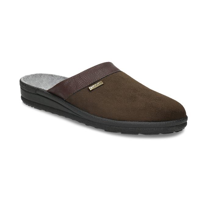 Men's slippers, brown , 879-4600 - 13