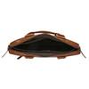 Men's brown leather satchel bata, brown , 964-3204 - 15