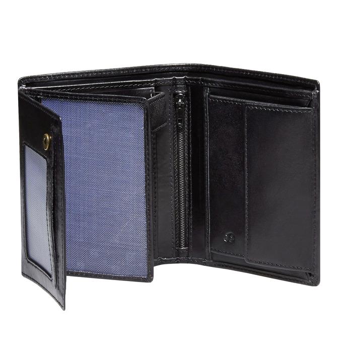 Men's leather wallet, black , 944-6121 - 15
