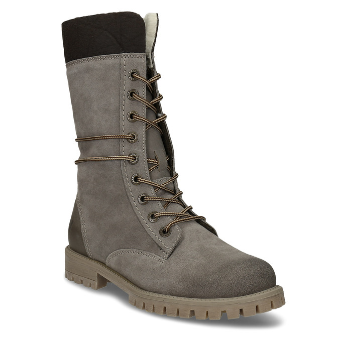 Ladies' lace-up winter boots weinbrenner, gray , 593-2476 - 13