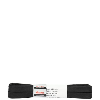Wide black laces bata, black , 901-6140 - 13