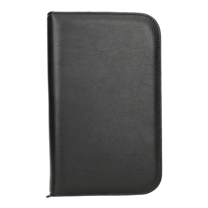 Leather manicure set, black , 944-6205 - 26