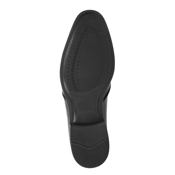 Black leather shoes bata, black , 824-6754 - 26