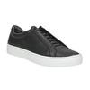 Black leather sneakers vagabond, black , 624-6014 - 13