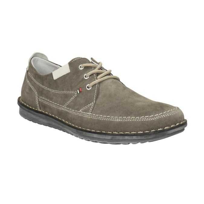 Casual leather shoes bata, gray , 853-2612 - 13