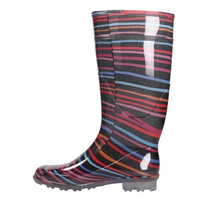 Children's wellington boots with stripes mini-b, multicolor, 492-6112 - 19