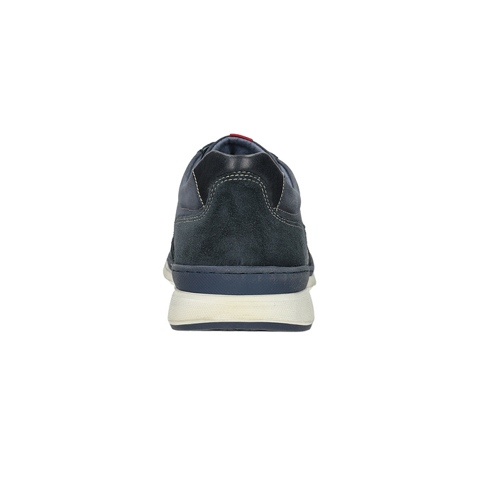 Casual brushed leather sneakers bata, blue , 846-9639 - 15