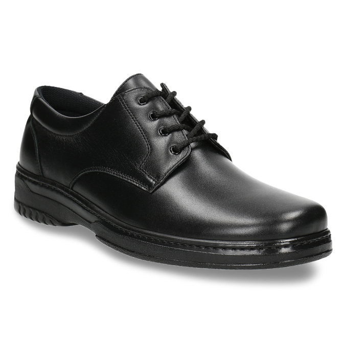 Men's shoes with a distinctive sole pinosos, black , 824-6540 - 13