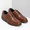 Brown leather dress shoes fluchos, brown , 824-3451 - 26
