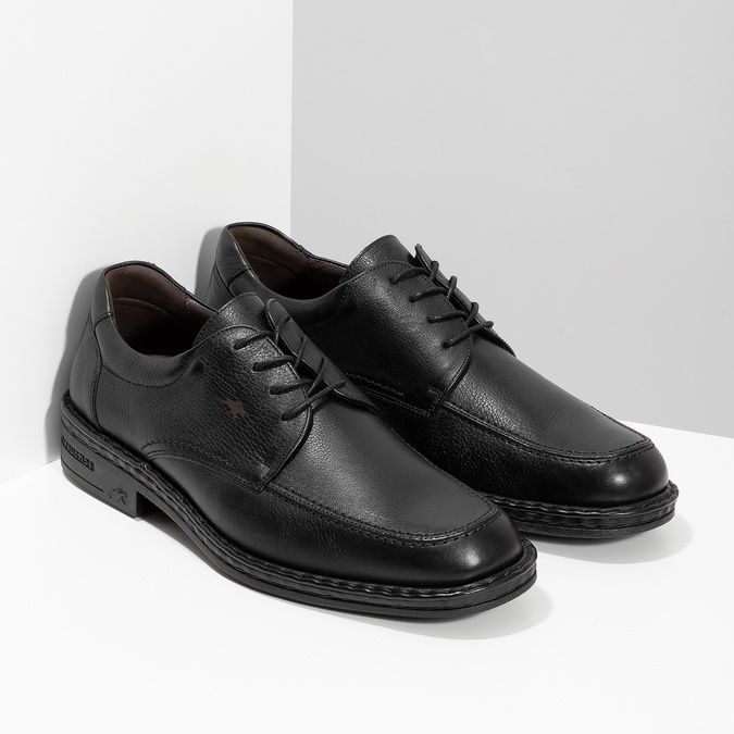 Black leather shoes, black , 824-6451 - 26