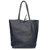 Ladies' leather Shopper handbag bata, blue , 964-9122 - 16