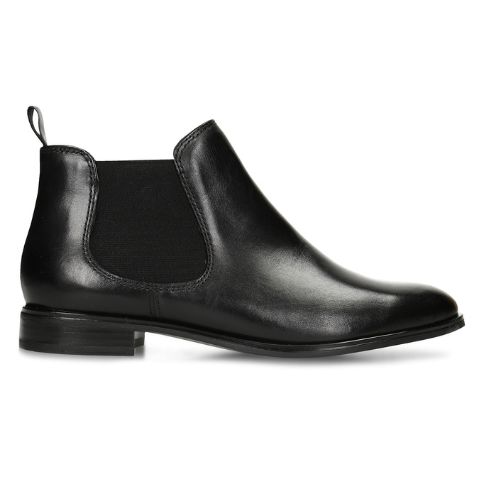 Black leather Chelsea style boots bata, black , 594-6635 - 19