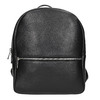 Black leather backpack, black , 964-6240 - 26