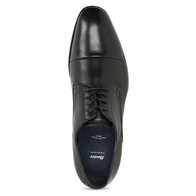 Men's leather Derby shoes, black , 824-6406 - 17