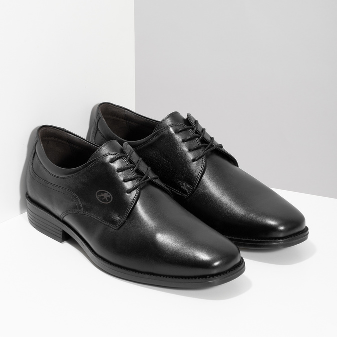 Men's Leather Derby Shoes, black , 824-6440 - 26