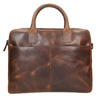 Men's leather bag with stitching, brown , 964-4139 - 17