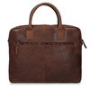 Men's leather bag with stitching, brown , 964-4139 - 26
