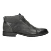 Textured leather ankle boots, gray , 826-2616 - 15