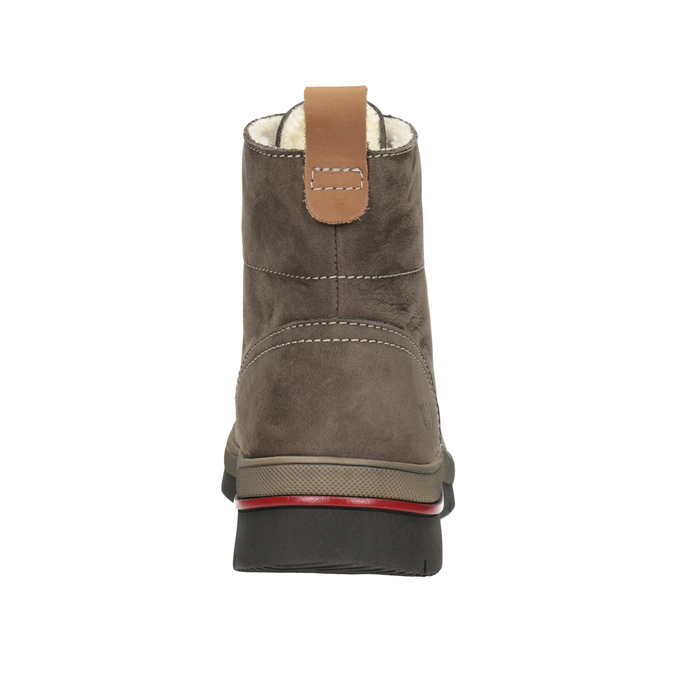 Ladies' Leather Winter Boots weinbrenner, brown , 596-4666 - 16