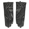 Ladies' black leather gloves, black , 904-6131 - 16