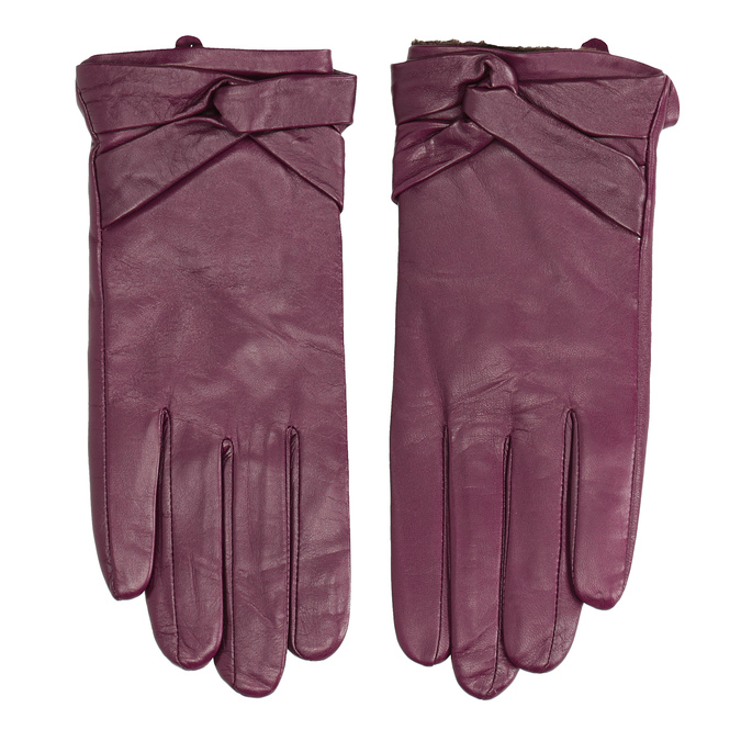 Ladies' leather gloves, violet , 904-0109 - 26