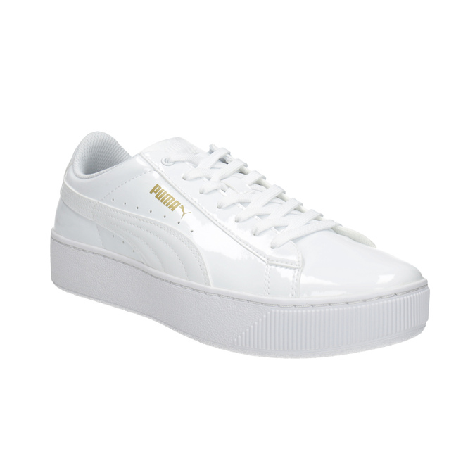 Puma Ladies' white flatform sneakers