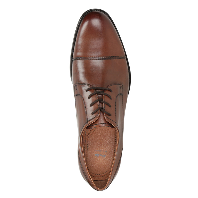 Men's dress shoes with stitching, brown , 826-4995 - 15